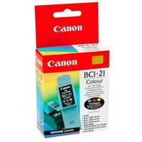 Canon oryginalny ink blistr, BCI21C, color, 120s, 0955A351, Canon BJ-C4000, 2000, 4100, 4400, 4650, 5500