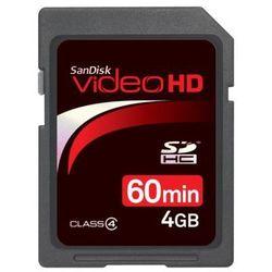 Karta SANDISK SDHC/4GB Video HD