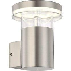 Zewnętrzna LAMPA ścienna SERGIO 34145 Globo metalowa OPRAWA elewacyjna LED IP44 outdoor srebrny