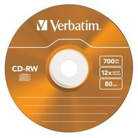 CDRW VERBATIM 700MB COLOUR X12 (5 SLIM)