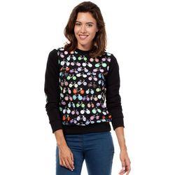 Czarna Dresowa Bluza z Kolorowymi Rowerami