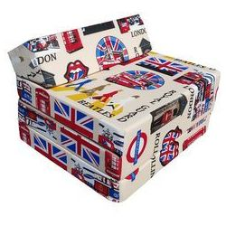 Fotel materac składany 200x70x10 cm - LONDON