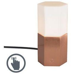 Lampa stołowa Hexagon miedziana