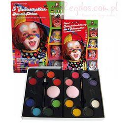 Zestaw farb do malowania twarzy z książką krok po kroku Eulenspiegel