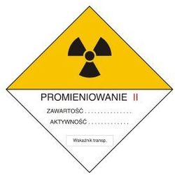 Znak ostrzegawczy do oznakowania przesyłek transportowych kategorii II