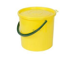 Okrągły pojemnik plastikowy z pokrywą 15l (Kolor: żółty)