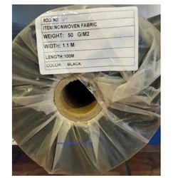 Agrowółknina ściółkujaca PP 50 g/m2 czarna 1,1 x 100 mb. BEZ UV.Rolka o wadze 8,6 kg.