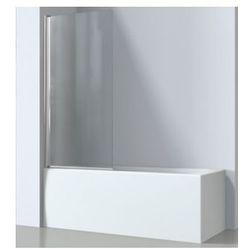 OMNIRES KENTON Parawan nawannowy 70x140cm, szkło transparentne MP75