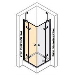 Drzwi skrzydłowe prawe do ścianki bocznej Huppe Enjoy ELEGANCE 120 cm, montaż na brodziku, srebrny mat, szkło przeźroczyste 3T0205.087.321