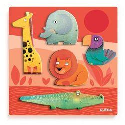 Puzzle drewniane układanka Zwierzęta z dżungli