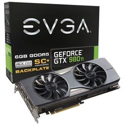 Karta graficzna EVGA GeForce® GTX 980 Ti SC+ ACX 2.0+, 6GB GDDR5 (384 Bit), HDMI, DVi, 3xDP - 06G-P4-4995-KR