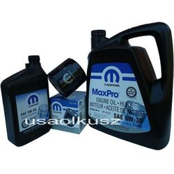 Oryginalny MOPAR filtr oraz mineralny olej 5W30 Jeep Grand Cherokee 4,7 V8 2008-
