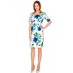 Sukienka w niebieskie róże - Bialcon