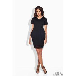 Czarna Dresowa Sukienka Bombka