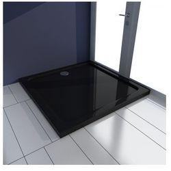 Kwadratowy brodzik prysznicowy ABS czarny 80 x 80 cm Zapisz się do naszego Newslettera i odbierz voucher 20 PLN na zakupy w VidaXL!