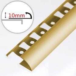 Listwa Wykończeniowa Do Płytek ASPRO 10mm Złoto Dł:2,5m
