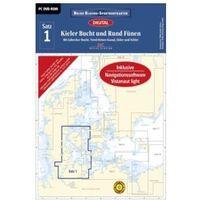 Delius Klasing-Sportbootkarten Kieler Bucht und Rund Fünen, DVD-ROM, Ausgabe 2016