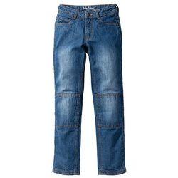 Trwałe dżinsy Slim Fit z wzmocnionymi kolanami bonprix Niebieski