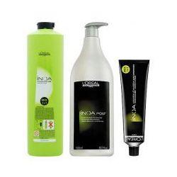 LOREAL INOA, Zestaw: farba + oxydant + szampon 4,07