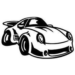 Naklejka dekoracyjna dla dzieci 31 - Samochód male Porsche