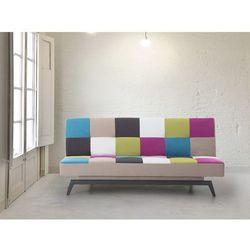 Sofa do spania - patchwork - kanapa - rozkladana - wypoczynek - LEEDS