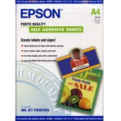 Epson C13S041106 Photo Quality Ink Jet Paper self-adhesive, DIN A4, 167 g/m2, 10 arkuszy