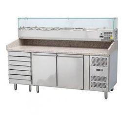 Stół do pizzy z nadstawą chłodniczą 2025x800x1415mm Stalgast