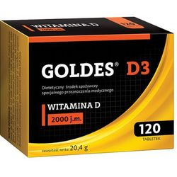Goldes D3 2000 j.m. 120 tabletek