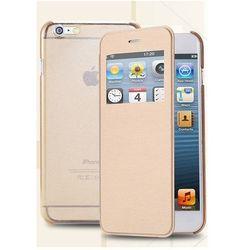 Flip Leather Złoty   Etui z klapką dla Apple iPhone 6 / 6S