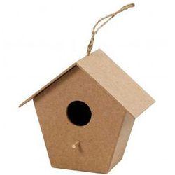 Domek dla ptaków z papieu mache duży - wzór VI