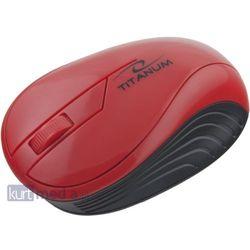 TITANUM Bezprzewodowa Myszka Optyczna 3D TM115R | 2.4 GHz | 1000 DPI | Czerwona