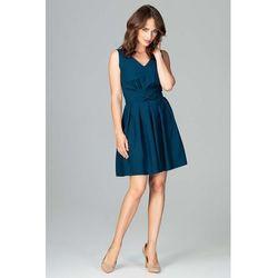 f8eafd51b5 suknie sukienki dopasowana sukienka z dekoltem w serek morelowa ...