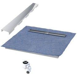 Schedpol podposadzkowa płyta prysznicowa 80x140 cm steel długi bok 10.009OLDBSL