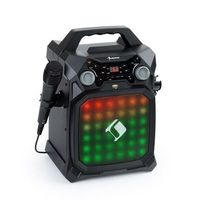 Auna Rockstar LightShow, sprzęt karaoke, bluetooth, USB, Line-In/Out, 2 x 6,3mm, czarny