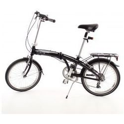 Aluminiowy rower składany SKŁADAK MIFA 7- biegów SHIMANO z bagażnikiem i torbą