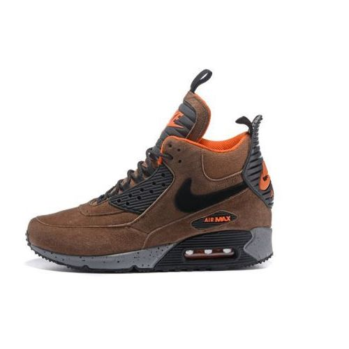 Nike Air Max 90 Sneakerboot Winter BrązowePomarańczowe