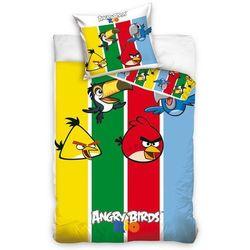 Tip Trade Dziecięca pościel bawełniana Angry Birds Stripes, 140 x 200 cm, 70 x 80 cm
