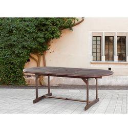 Stół ogrodowy - brązowy - rozkładany - ogród - meble ogrodowe - MAUI