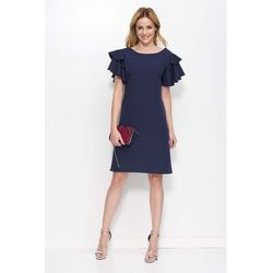 83f8e085f3 suknie sukienki granatowa sukienka na wesele komunie polowinki ...
