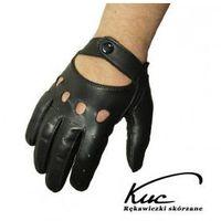 Skórzane rękawiczki samochodowe KUC - nowy model