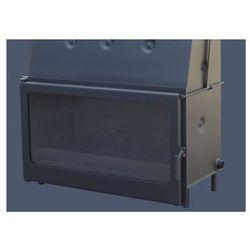 NOWOŚĆ - NOWOCZESNY wkład kominkowy wodny panoramiczne drzwi prawie 90cm Kominek z płaszczem wodnym 15-22kW PAPRENK