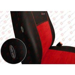 POK-TER Skóra Alkantara Czerwone Pokrowce samochodowe BMW Seria 1 F20/F21 od 2011 - Czerwony