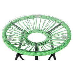 Meble Rattanowe Stół Z 2 Krzesłami Zielone Acapulco
