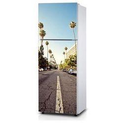 Naklejka na lodówkę - Palmowa droga - Naklejka laminowana