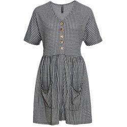 42ad350c25 suknie sukienki levis r sukienka jeansowa niebieski (od Sukienka z ...
