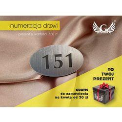 Numerki do szatni - numer wieszaka lub szafki - ELIPSA - ND010- wym. 60x35mm