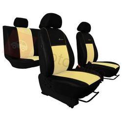 Pokrowce samochodowe EXCLUSIVE - POK-TER Skórzane Beżowe BMW Seria 1 F20/F21 od 2011 - Beżowy