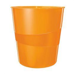 Kosz na śmieci Leitz Wow 15l 5278 metaliczny pomarańczowy