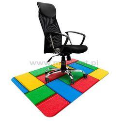 Maty ochronne pod krzesła ze wzorem 051 KLOCKI - 100x140cm - grubość 1,3mm