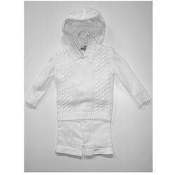 Komplet niemowlęcy chrzest, roczek (spodnie+koszula+sweter+czapka)
